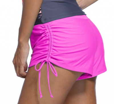 Rosy Ruched Side Swimsuit Bottom